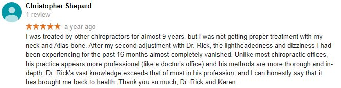 Atlas Spine and Wellness Care Patient Testimonial