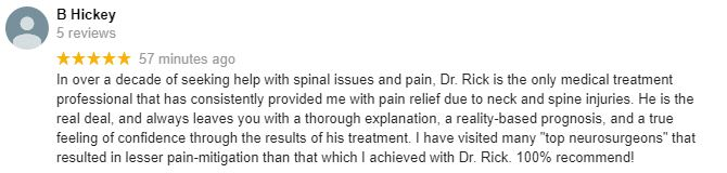 Chiropractic Mt Pleasant SC Patient Testimonial at Atlas Spine and Wellness Care